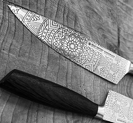 INDIVIDUAL LASER ENGRAVING-PERSONALISED KNIVES