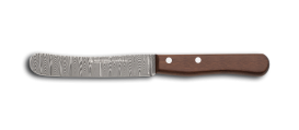 """Buckel"" knife made of DSC-inox Damask steel"
