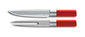 AML LINES 2 piece carving set RED