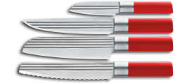 AML LINES 4 piece knife set RED