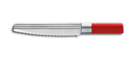 "AML LINES Bread knife 8"" RED"
