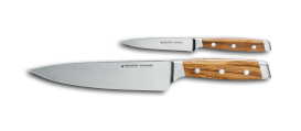 FIRST CLASS WOOD 2 piece knife set