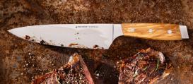 FIRST CLASS WOOD Kochmesser 21 cm ohne Fingerschutz