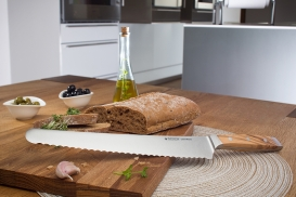FIRST CLASS WOOD Italian Bread Knife 10""