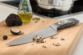 "FIRST CLASS DAMASKUS BLACK LINE CHEF'S KNIFE 8"""