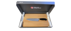 Platinum chef's knife + cutting board beech wood