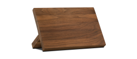 Magnetic Knife stand, solid walnut