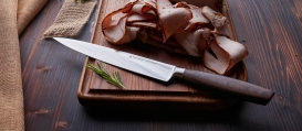 SIZE SMOKED OAK Meat-and carving knife 8""