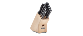 GLORIA LUX 9 piece knife block set