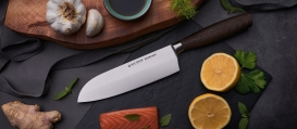 SIZE S SMOKED OAK  Santoku knife 6,5""