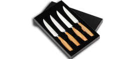 SIZE S OLIVE Steak knife SET, 4 pieces w/o serration
