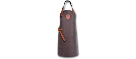 Barbecue leather apron taupe L