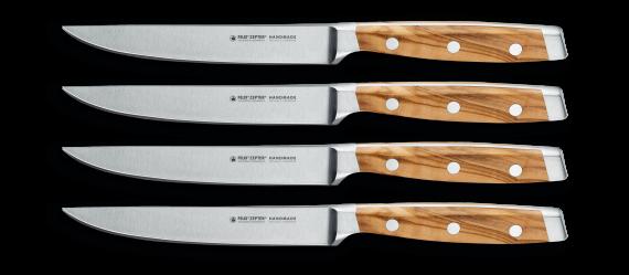FIRST CLASS WOOD Steakmesserset 4-tlg