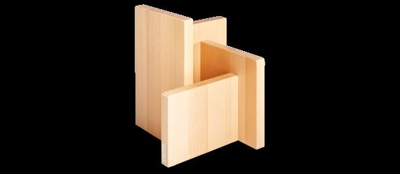 Magnetmesserblock Quattro, Buche massiv, leer, für 8 Teile